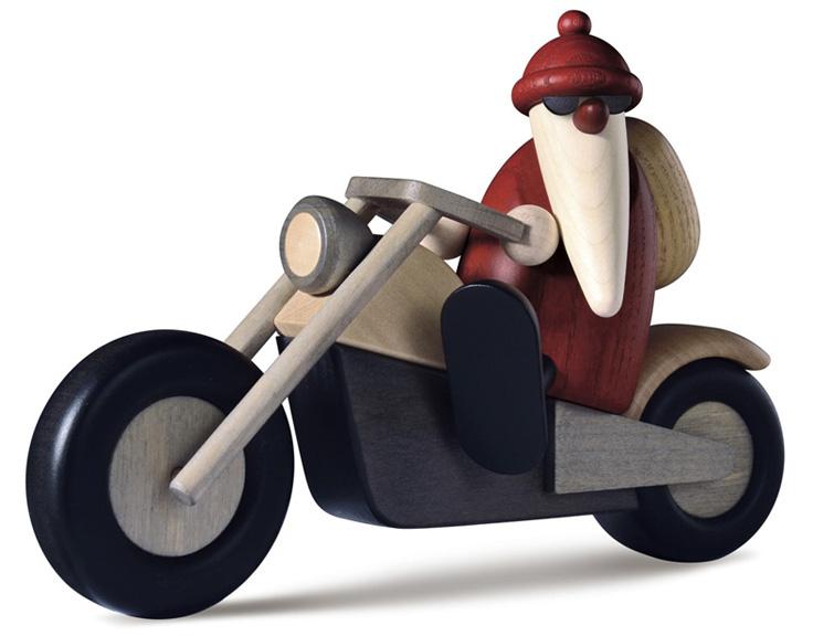bj rn k hler kunsthandwerk weihnachtsmann auf motorrad. Black Bedroom Furniture Sets. Home Design Ideas