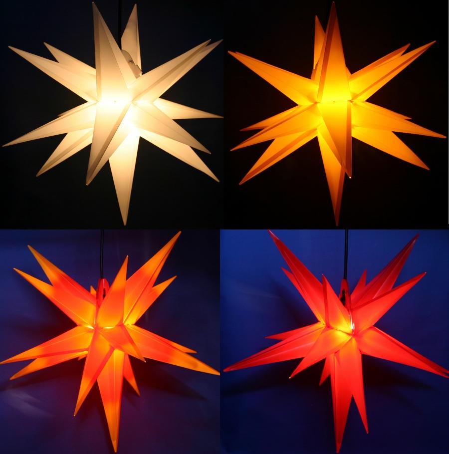 LED Außenstern 3D außen Stern Adventsstern Leuchtstern ...