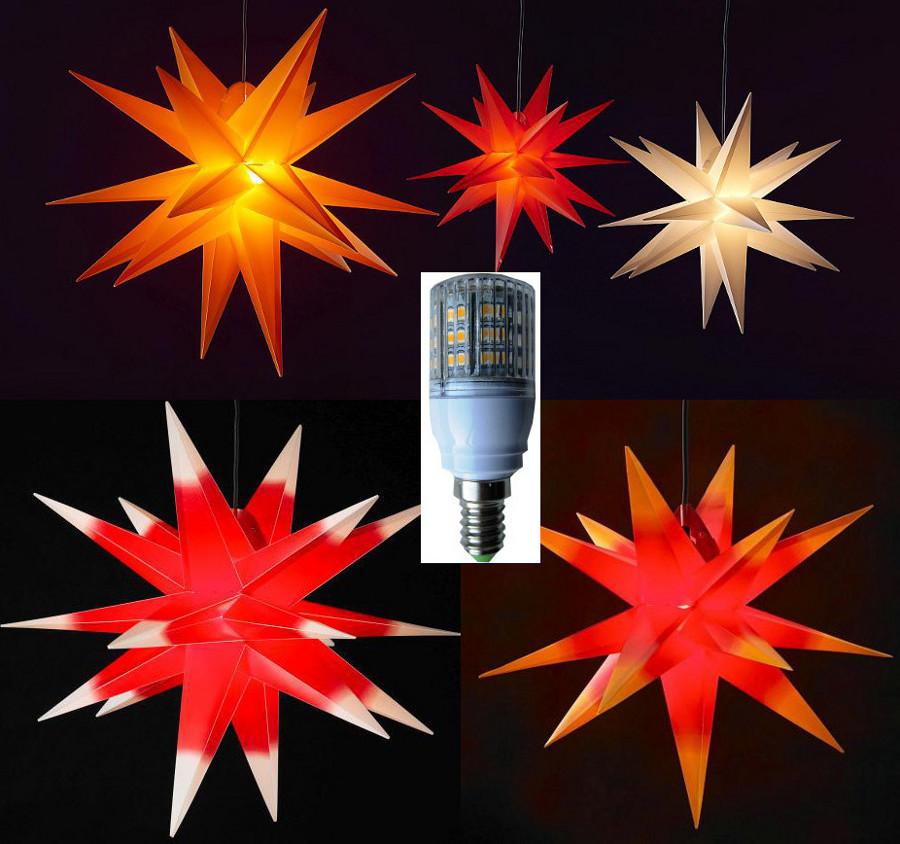 XXL 100cm LED Außenstern 3D außen Stern Adventsstern ...