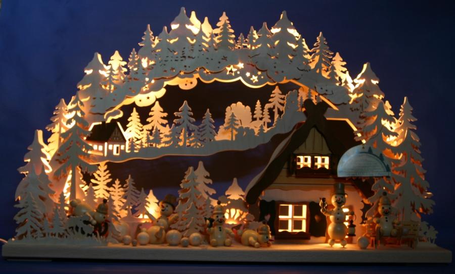 Lichterbogen - Weihnachtsbeleuchtung auayen figuren selber bauen ...
