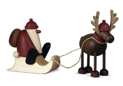 Weihnachtsmann mit Schlitten und Baum Björn Köhler Neu 2018