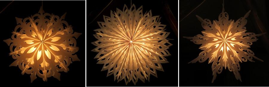 LED Winter- Stern außen Außenstern Schneeflocke ...